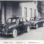 Taxi in stazione a Reggio Emilia (Ottobre 1962)