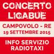Servizio taxi Concerto di Ligabue del 19 settembre